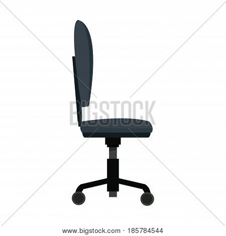 chair wheel office equipment comfort vector illustration