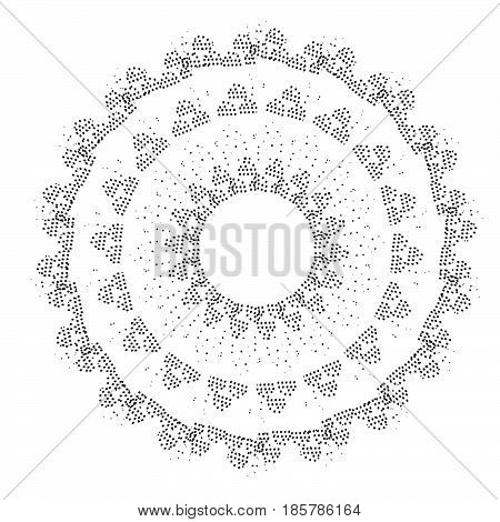 Vector ethnic circle mandala concept. -stock vector