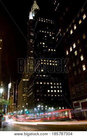 New York, the 42nd Street in Midtown Manhattan