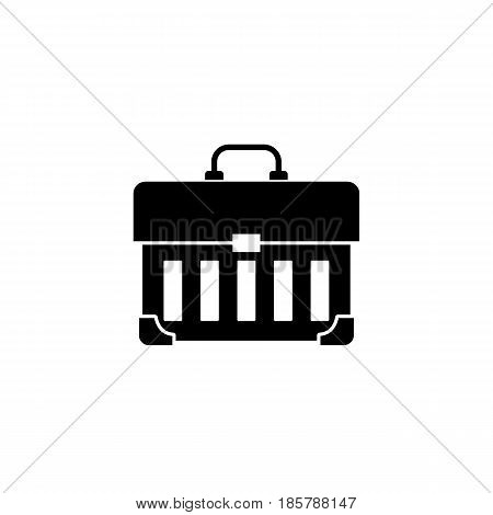 Tool box solid icon, build repair elements, construction tool, a filled pattern on a white background, eps 10.