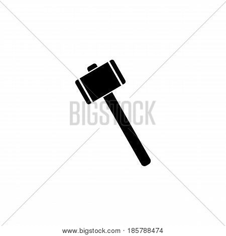 Mallet solid icon, build repair elements, construction tool, a filled pattern on a white background, eps 10.