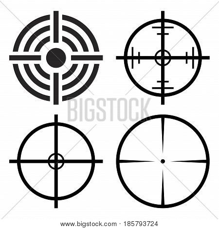 Crosshair Target Set Vector Symbol Icon Design.