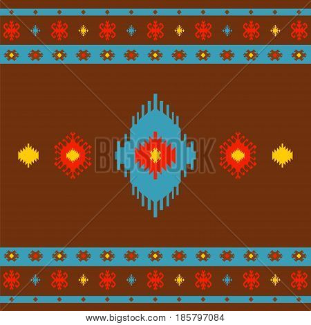 Native American Indian seamless pattern ethnic traditional geometric art with retro vintage design elements Aztec Inca Navajo trib