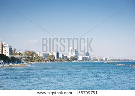 Beautiful Seascape and Cityscape of Limassol Cyprus