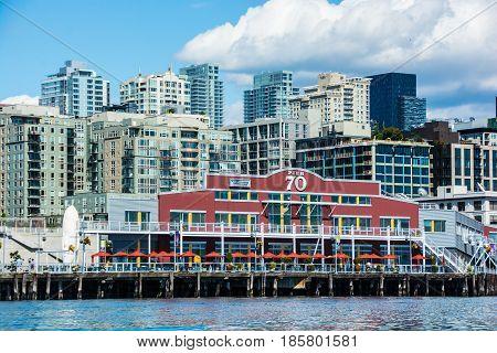 Seattle Waterfront and Skyline taken from Elliott Bay