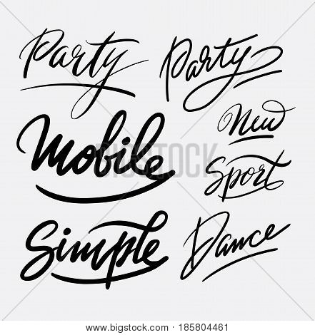 Party hand written typography. Good use for logotype, symbol, cover label, product, brand, poster title or any graphic design you want. Easy to use or change color