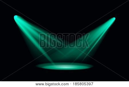 Vector Light Effect Spotlight with Transparent Background