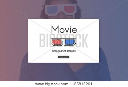 Enjoy Movie Cinema Entertainment Time Leisure Pastime Activity Word Graphic