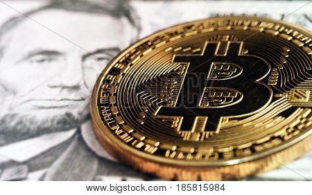 Bitcoin On Lincoln Portrait