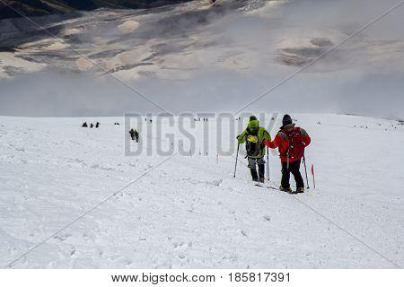 Mount Elbrus, Russia: Panoramic view of Elbrus mountain
