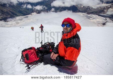 Mount Elbrus, Russia: view of Elbrus mountain