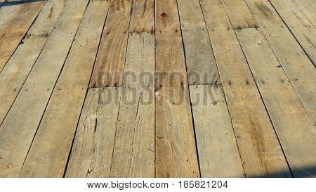 Background floor made with rustic wooden boards