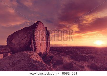 Valley of the sun, Phoenix Arizona desert sunset