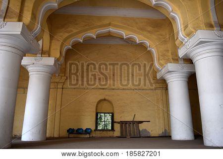 Madurai, Tamilnadu - India - March 21, 2017 - Thirumalai Nayak Palace