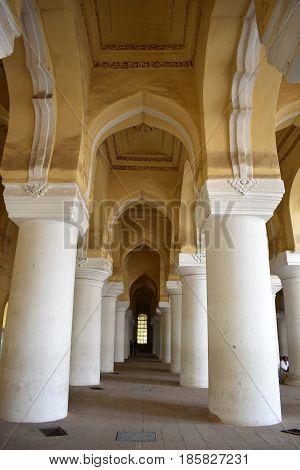 Madurai, Tamilnadu - India - March 21, 2017 - Nayakar Palace