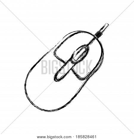 Mouse computer device icon vector illustration graphic design