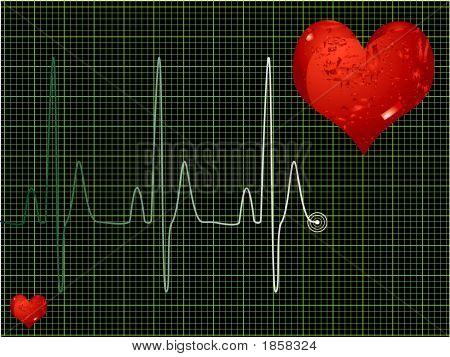 Latido del corazón verde