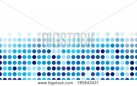 Mosaic background random dark and light blue circles, pattern polka dots, neutral versatile pattern for business techno style design. Decoration of the booklet, broadsheet, flysheet, poster, banner.