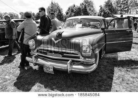 Paaren Im Glien, Germany - May 19: Car Chrysler New Yorker (1954), Black And White, The Oldtimer Sho