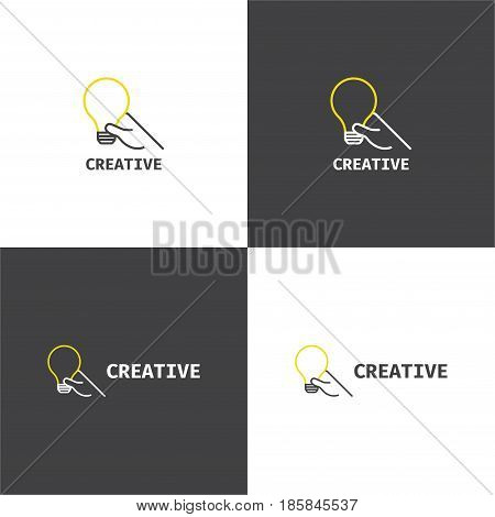 Vector eps logotype about creative business company in eps 10 horizontal and vertical view