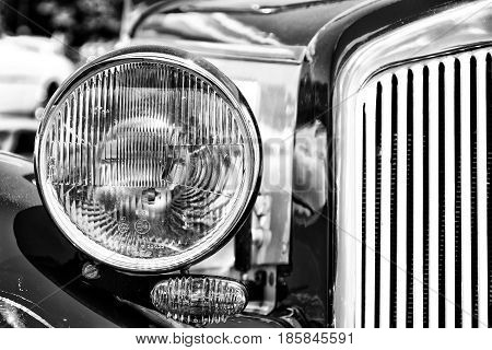 Paaren Im Glien, Germany - May 19: Detail Of The Two-door Convertible Dkw F8, (black And White),