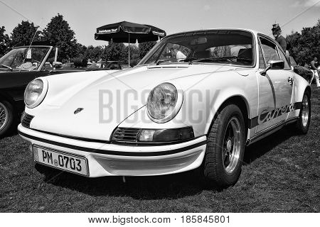 Paaren Im Glien, Germany - May 19: Sports Car Porsche 911 Carrera Rs (black And White),