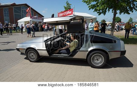 Paaren Im Glien, Germany - May 19: Sports Car Delorean Dmc-12,