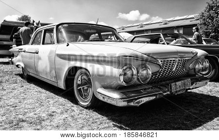 Paaren Im Glien, Germany - May 19: Full-size Car Plymouth Fury, 1961 (black And White),