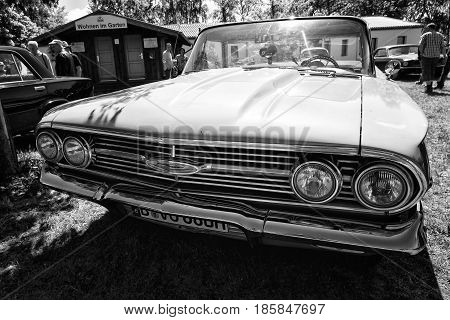 Paaren Im Glien, Germany - May 19: Chevrolet El Camino - A Coupe Utility Vehicle, Black And White,