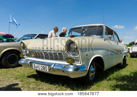 Paaren Im Glien, Germany - May 19: The Ford Taunus 17 M P2 Is A Middle Sized Family Saloon Produced