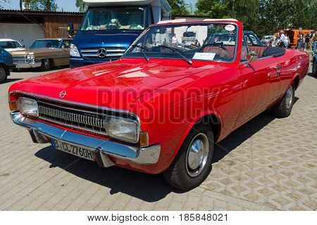 Paaren Im Glien, Germany - May 19: Opel Rekord C Convertible: Karl Deutsch Conversion Based On The F