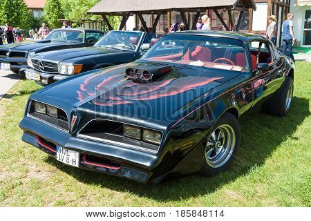 Paaren Im Glien, Germany - May 19: Pontiac Firebird Trans Am (1977). The Pontiac Firebird Is An Auto