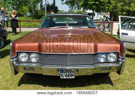 Paaren Im Glien, Germany - May 19: The Two-door Hardtop Lincoln Continental (1966),