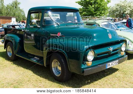 Paaren Im Glien, Germany - May 19: Full-size Pickup Truck Ford F100 (second Generation),