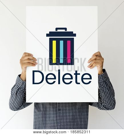 Delete cancel cut out remove erase edit