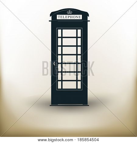 Simple symbolic image of an phone cabin