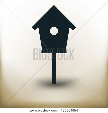Simple symbolic image of an bird house