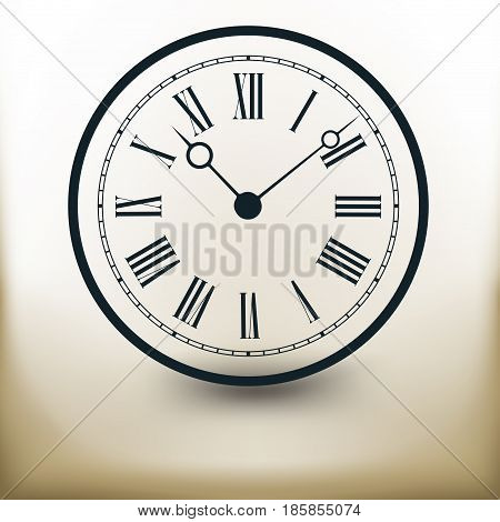 Simple symbolic image of an old wall clock