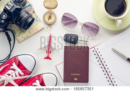Planning to travel with on a white background.