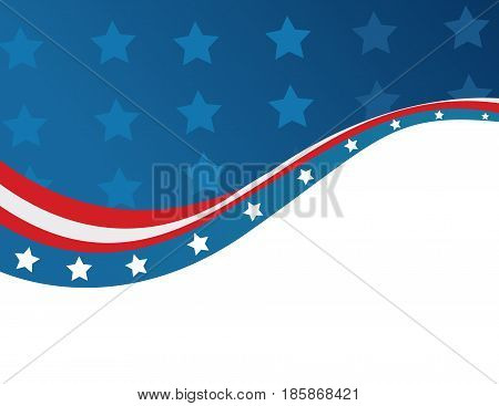 Abstract USA flag in style illustration art