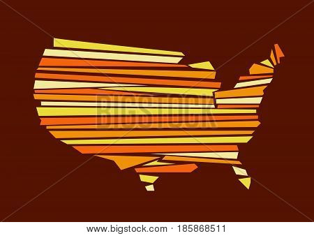 USA map vector illustration art with background