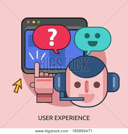 User Experience Conceptual Design | Great flat illustration concept icon and use for technology, Business, Creative Idea, Concept and much more.