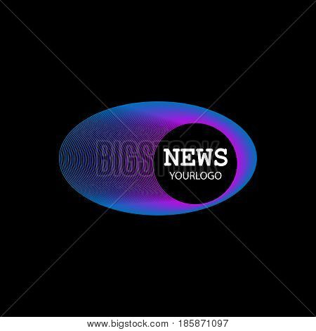 Vector of logo news symbol or icon inscription of news