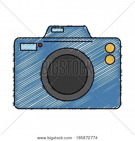 photographic camera icon over white background. vector illustration