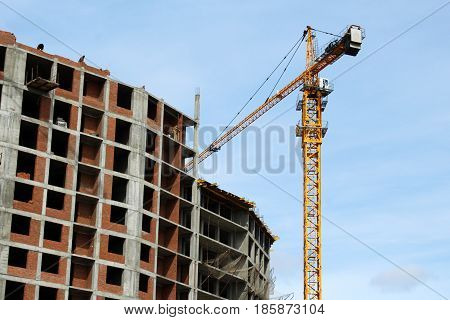 The Construction Crane And The Building