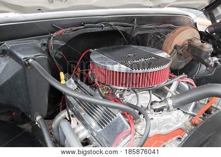 Gmc C15 Lb Pickup Engine 1970 On Display