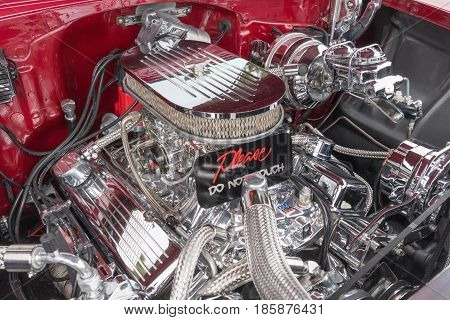 Chevrolet Chevelle Ss Engine On Display