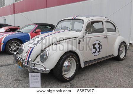 Volkswagen Beetle Herbie On Display
