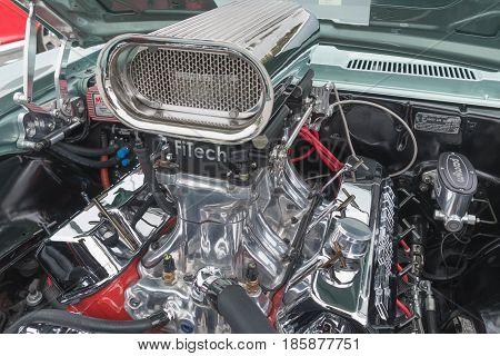 Chevrolet Camaro Ss Engine On Display