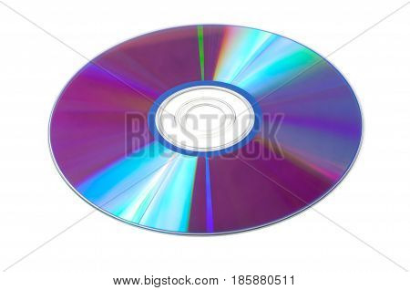 CD dvd disc isolated on a white background